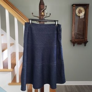 Denim Modesty Skirt Liz Claiborne